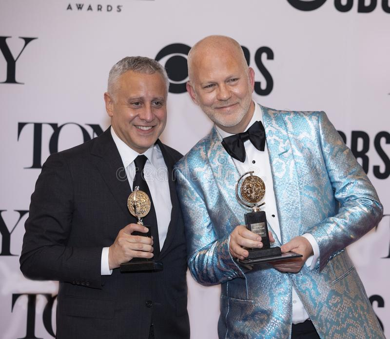 David Stone & Ryan Murphy em Tony Awards 2019 imagens de stock