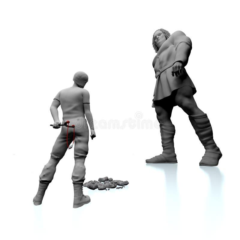 David und Goliath vektor abbildung