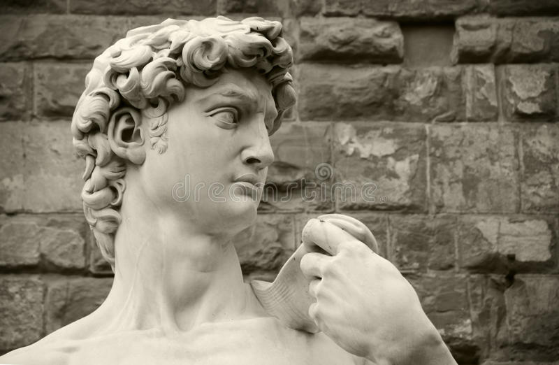David van Michelangelo, Florence Italië royalty-vrije stock foto's