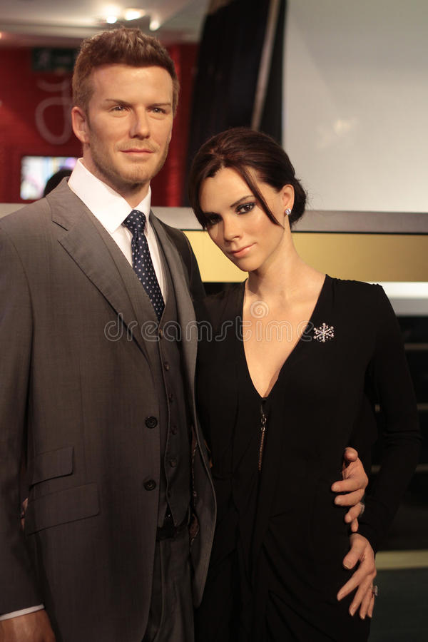 David and Victoria Beckham stock photography