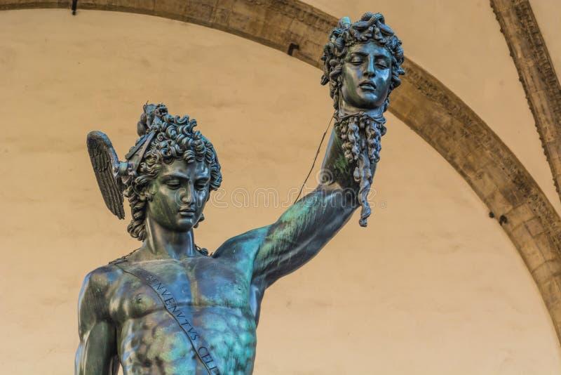 David vs Goliath w Florencja zdjęcia royalty free