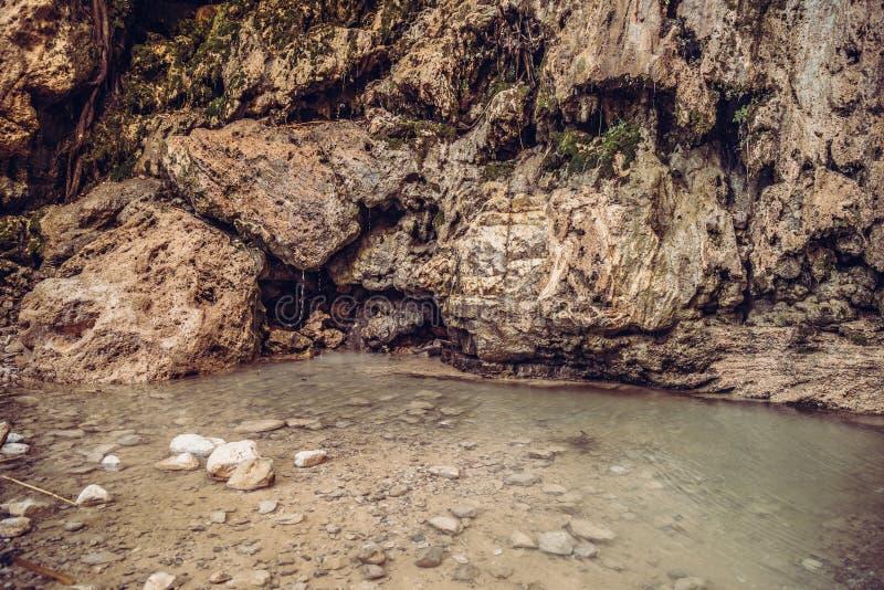 David Waterfall En Gedi Israel stock fotografie