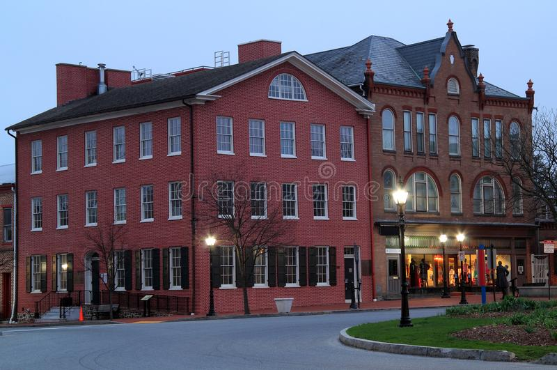 David Wills House i Gettysburg royaltyfria foton