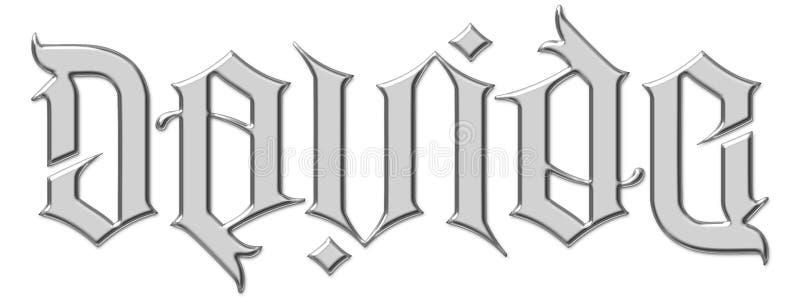 Davide Dave Ambigram Illuminati imagens de stock royalty free