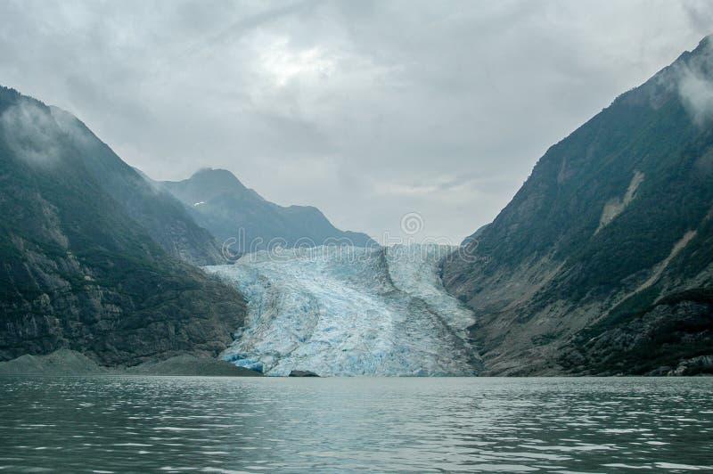 Davidson Glacier - Alaska fotografering för bildbyråer