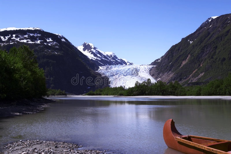 Davidson Gletscher stockfotografie