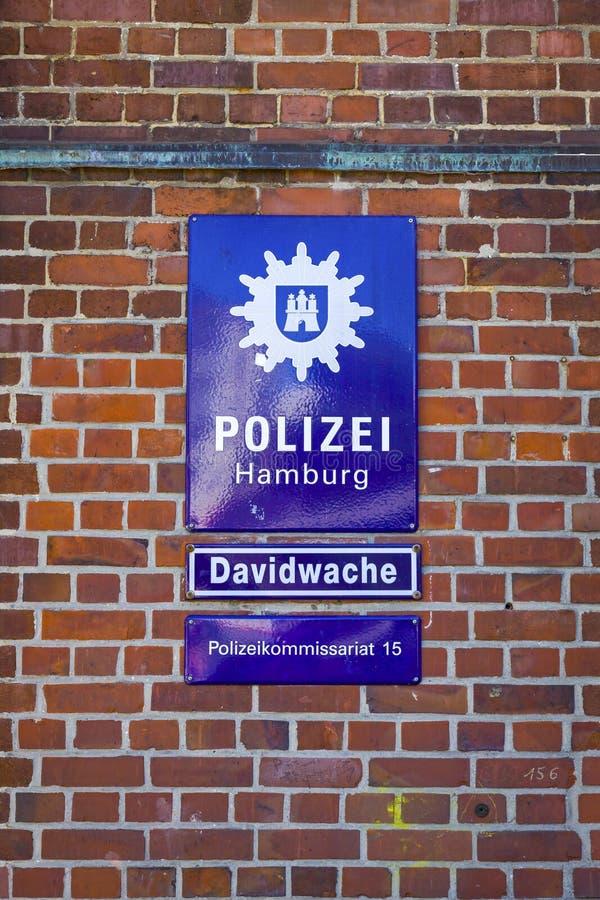 Davidwache, отделение полици в Гамбурге, Германии стоковая фотография rf