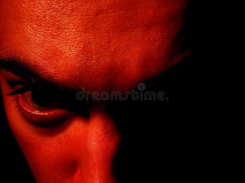 Davil κόκκινο προσώπου Στοκ Εικόνες