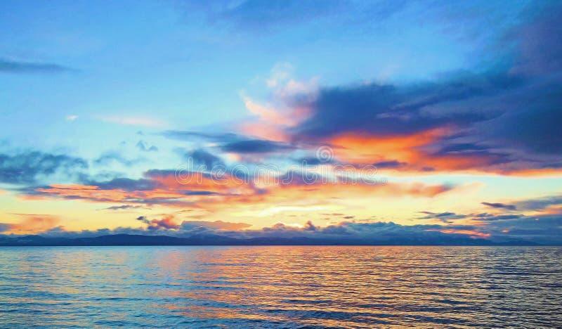 Davis Bay, BC zonsondergang stock foto's