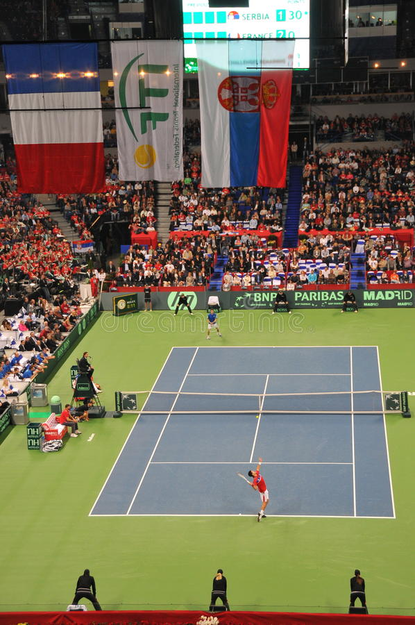 Free Davis Cup Finals 2010: Serbia - France 3:2 Stock Photo - 17354440