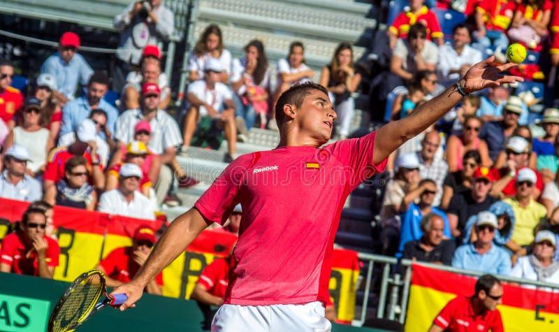 Davis Cup: Nicolas Almagro stock image