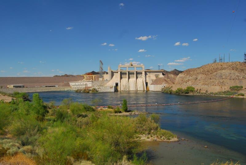 Davis Dam rio abaixo imagem de stock