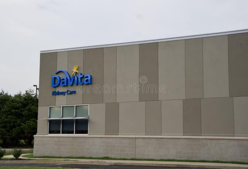 Davita-Dialysenieren-Sorgfalt-Gebäude lizenzfreie stockfotografie