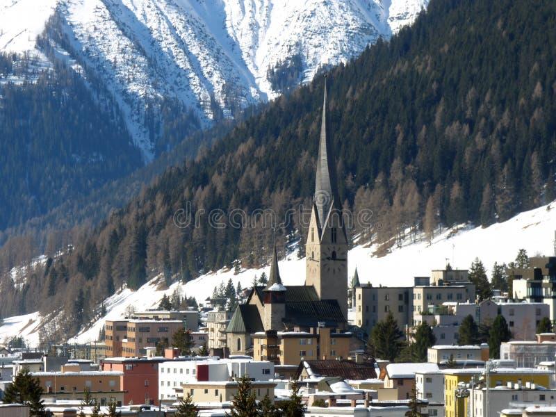 Download Davos stock foto. Afbeelding bestaande uit skiing, forum - 39115512