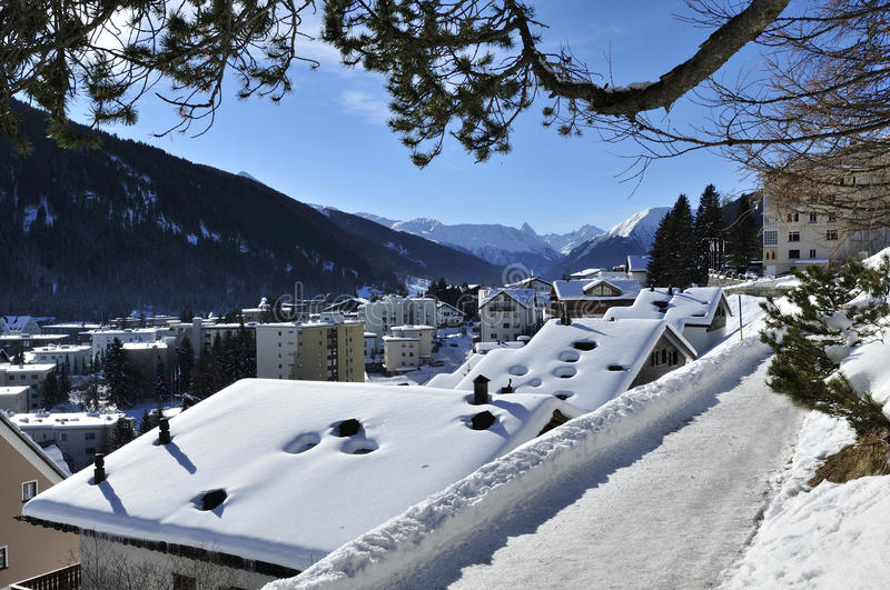 Davos. The centre of Davos city – Switzerland royalty free stock images