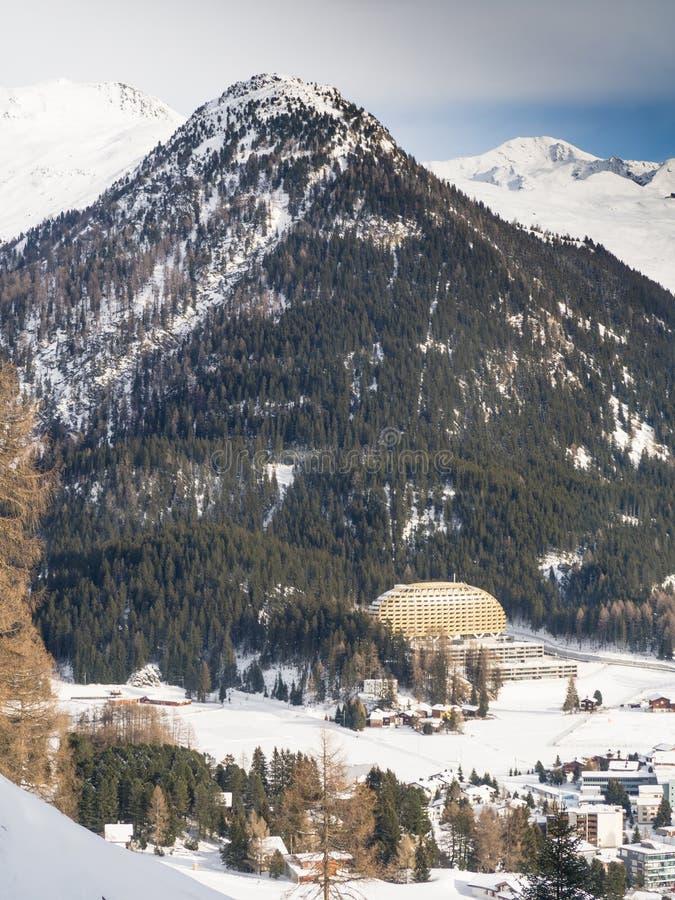 DAVOS, DIE SCHWEIZ - 12. JANUAR lizenzfreies stockfoto