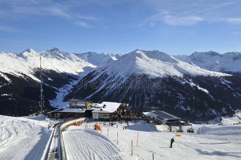 Davos Ski Resort foto de archivo libre de regalías