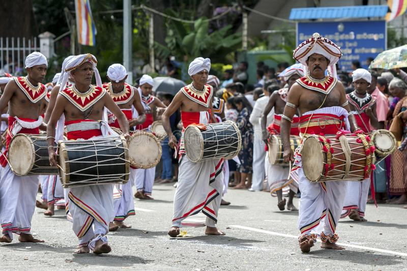 Davul Players perform in Kandy. stock photo