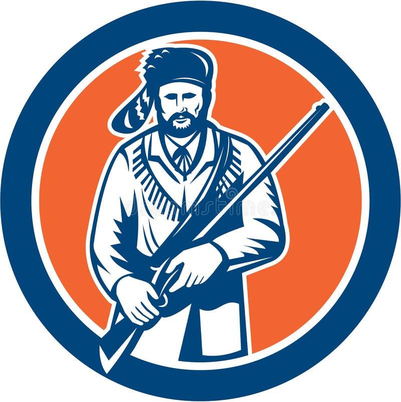 Davy Crockett American Frontiersman vector illustratie