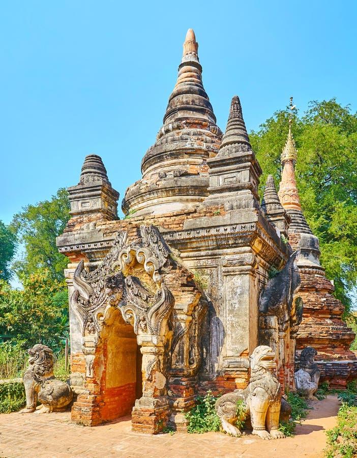 Daw Gyan塔,阿瓦华丽寺庙  库存照片