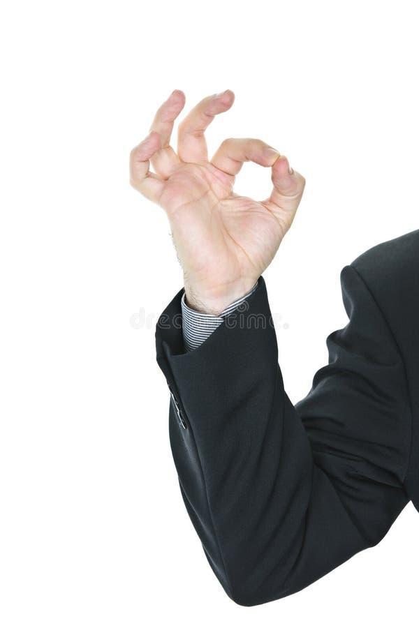 dawać mężczyzna ok znakowi zdjęcie royalty free