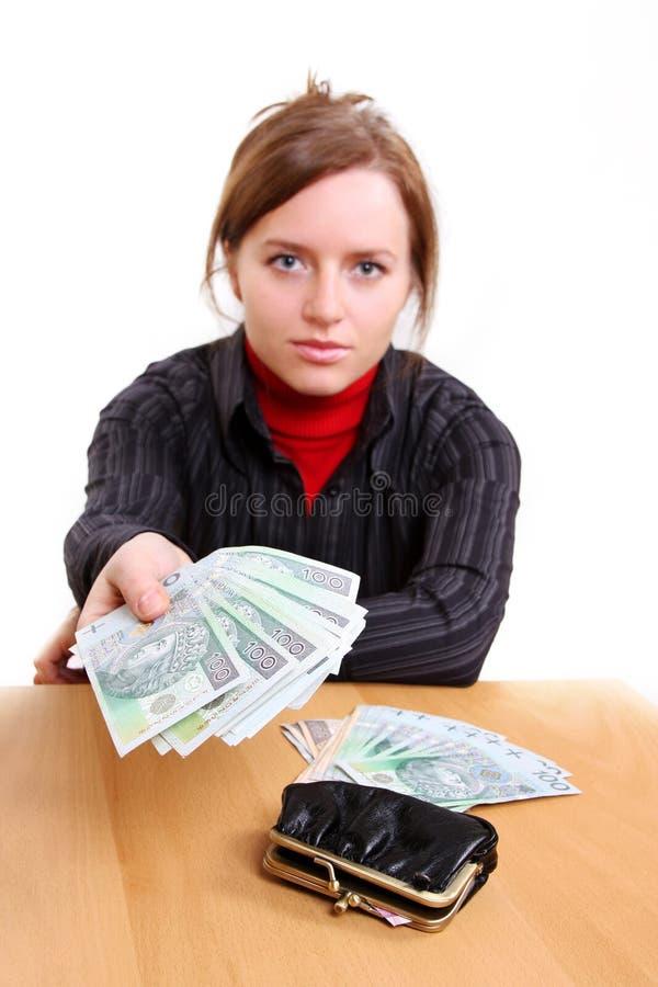Dawać Pieniądze Zdjęcia Stock