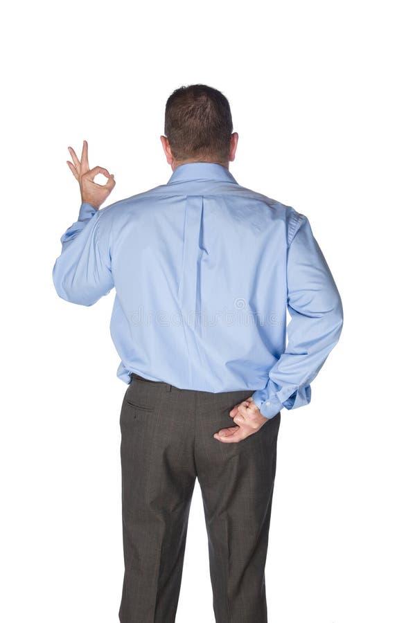 dawać ręki mężczyzna sygnałom obrazy stock