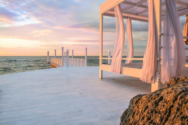 Dawn θαλασσίως στοκ φωτογραφία