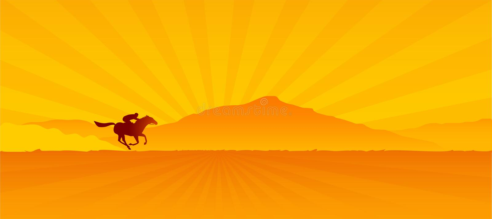 Download Dawn stock vector. Image of equestrian, ranch, morning - 1387200