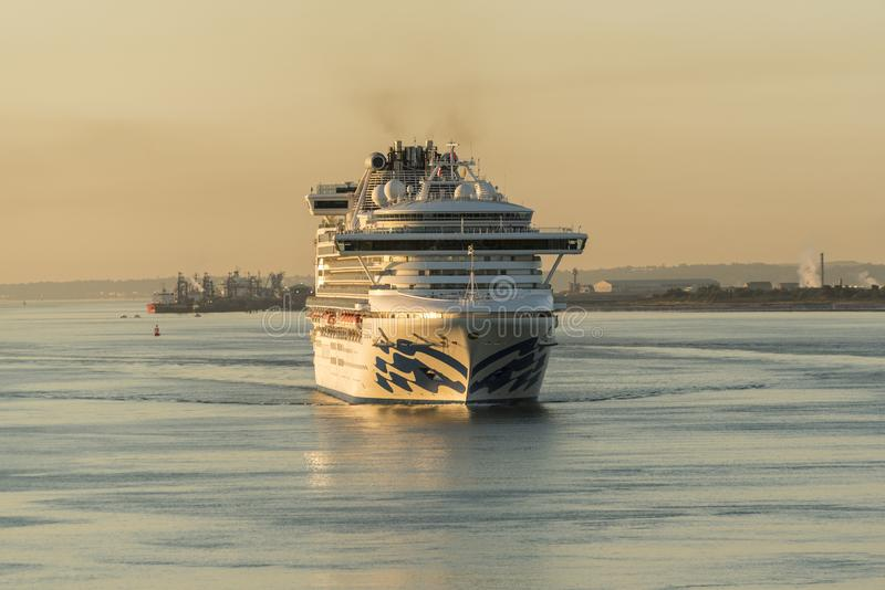 Dawn arrivals in Southampton royalty free stock image