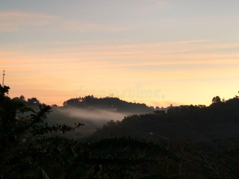 Dawn in bergen royalty-vrije stock fotografie