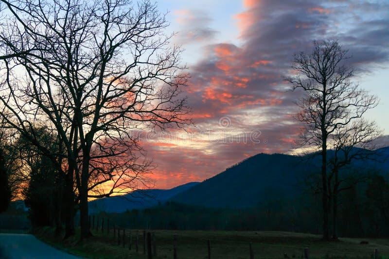 Dawn bij Cades-Inham royalty-vrije stock afbeelding