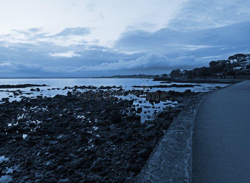 Dawn bij de waterkant royalty-vrije stock afbeelding