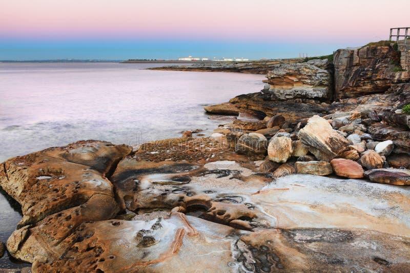 Dawn at Botany Bay, Australia stock photos