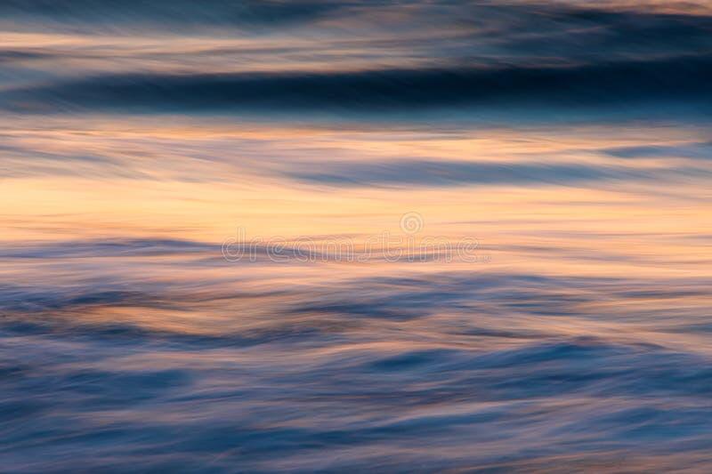 Dawn break on the beach of the Atlantic Ocean stock image