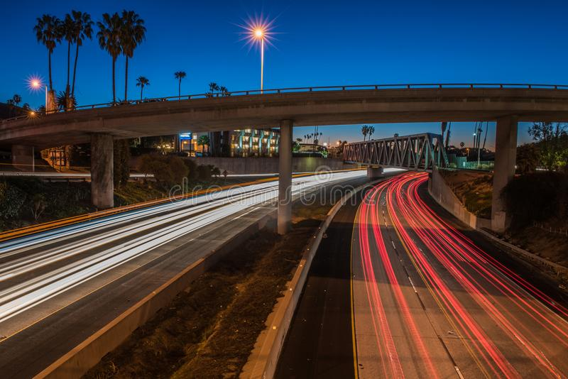 Rush hour in the predawn hours of the commute. royalty free stock images