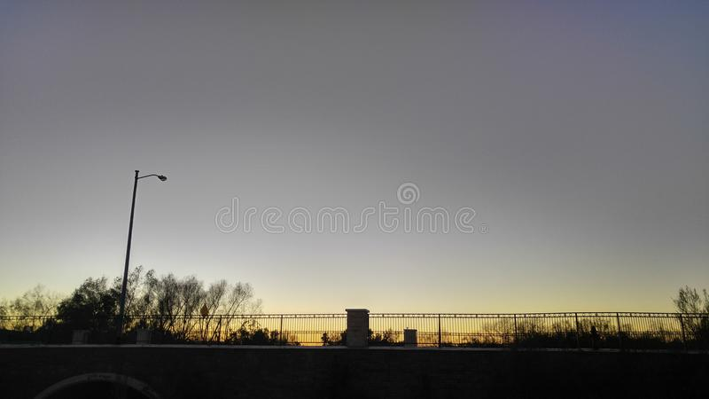 Bridge under the sky royalty free stock image