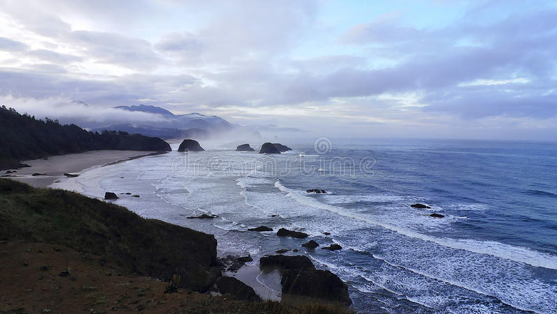 Dawn at Cannon Beach. Ocean surf royalty free stock image