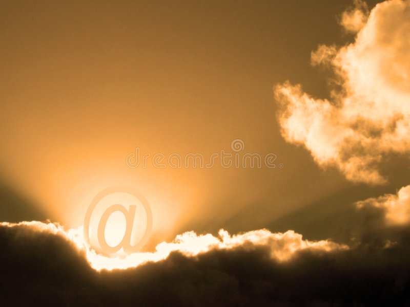 Dawn of communication stock photography