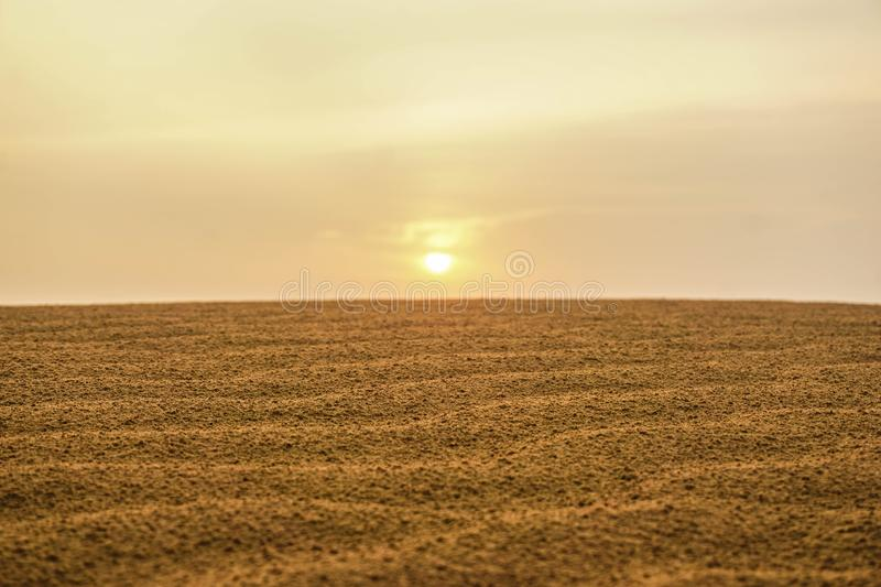 Dawn in the desert of Rajasthan. India royalty free stock image