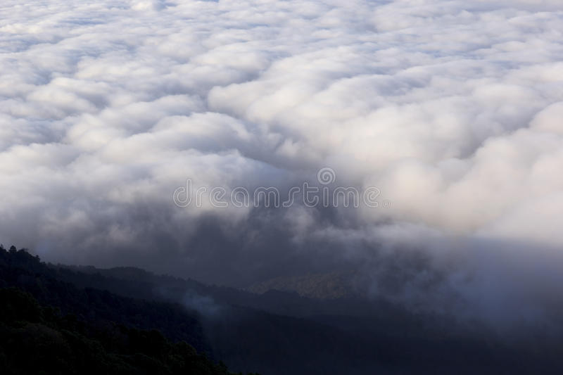 Dawn Fog In The Mountains Royalty Free Stock Image