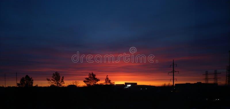 dawn industrial στοκ εικόνες