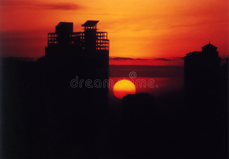 dawn Jakarta obraz royalty free
