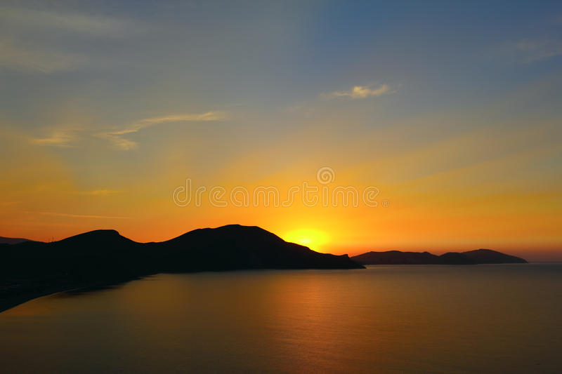 Download Dawn in Koktebel stock image. Image of mountains, coast - 26532217