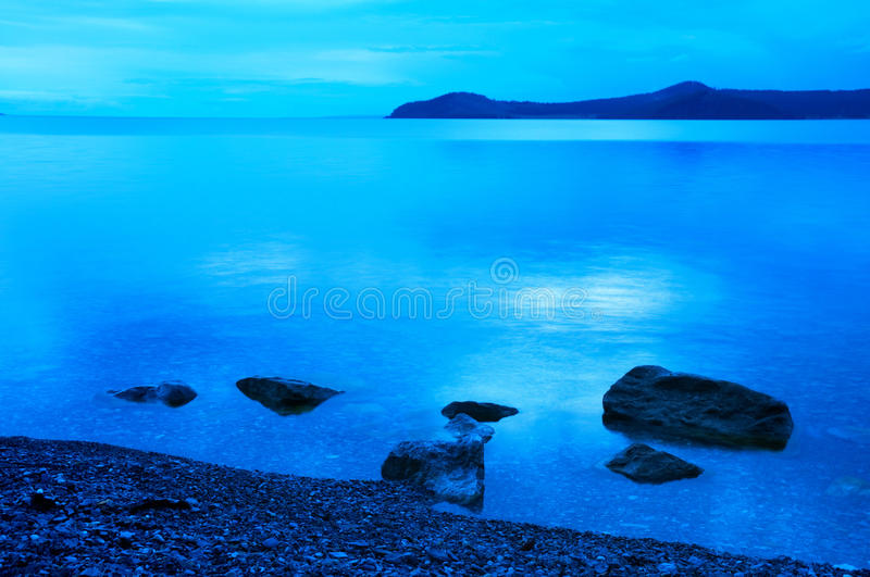 Dawn on the Lake Hovsgol, Mongolia stock images