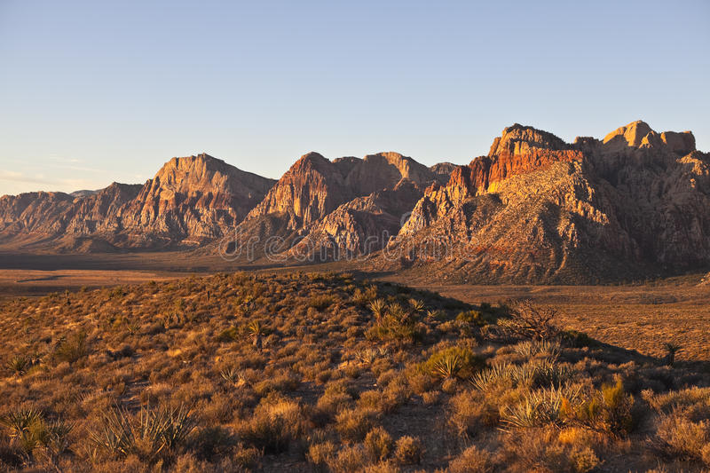Download Dawn Light At Red Rock Nevada Stock Photo - Image: 21620110