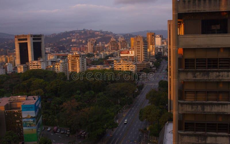 Dawn in`Los Palos Grandes`, Caracas. royalty free stock photo