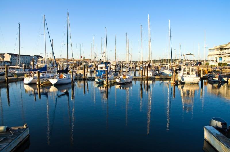 dawn marina zdjęcie stock