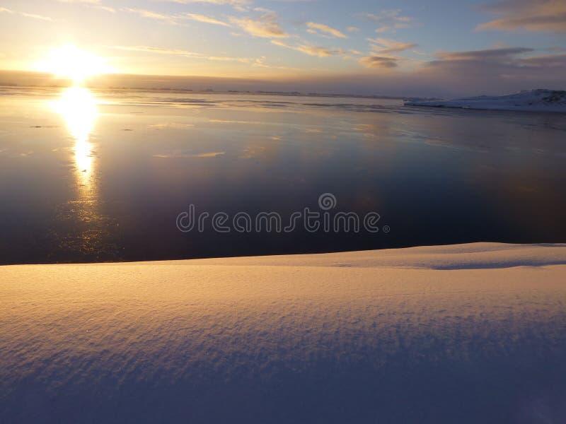 Dawn Mitchell Peninsula Antarctica foto de archivo