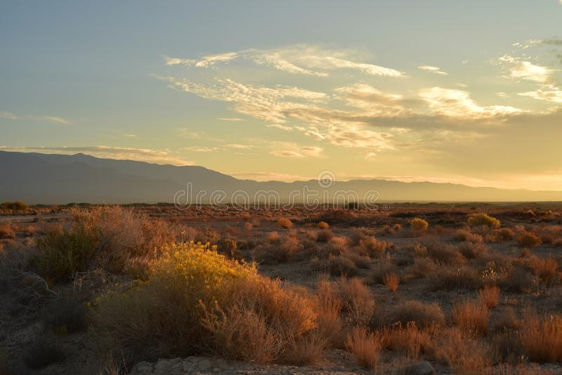 Mojave desert dawn landscape sky clouds mountain range c royalty free stock image